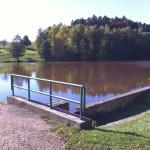 Štěpanický rybník, rybolov kousek od chalupy